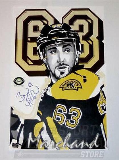 Brad Marchand Boston Bruins Signed Autographed 63 Portrait