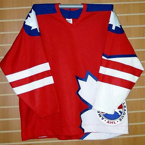 1995 AHL All-Star Game CCM Authentic On Ice Game Issued Red Hockey Jersey 58