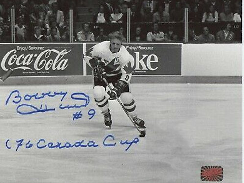 Bobby Hull Chicago Blackhawks signed 8x10 inscribed 76 Canada Cup