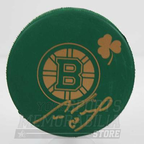 Cam Neely Boston Bruins Signed Autographed St. Patrick's Day Hockey Puck