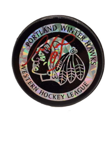 Cam Neely Portland Winter Hawks signed autographed puck