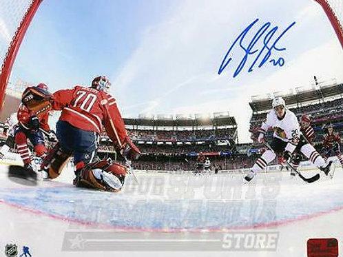 Brandon Saad Chicago Blackhawks Signed Autographed Winter Classic Net Cam 8x10