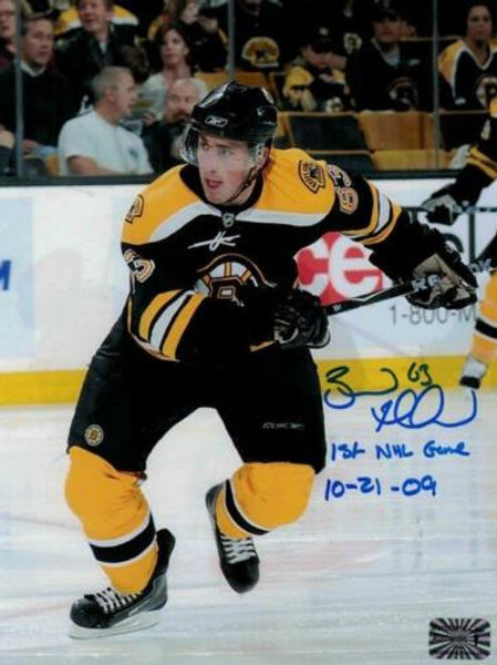 Brad Marchand Boston Bruin signed & Inscribed 1st NHL game