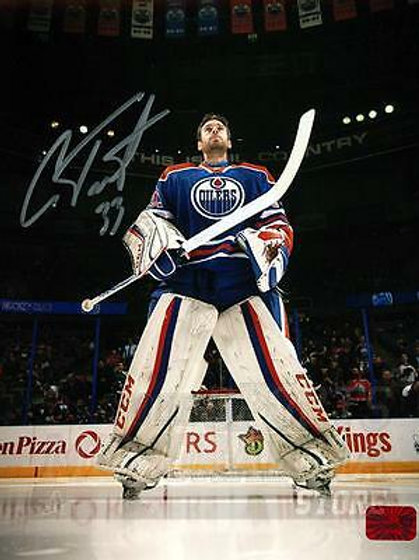 Cam Talbot Edmonton Oilers Signed Autographed Pregame Anthem 8x10