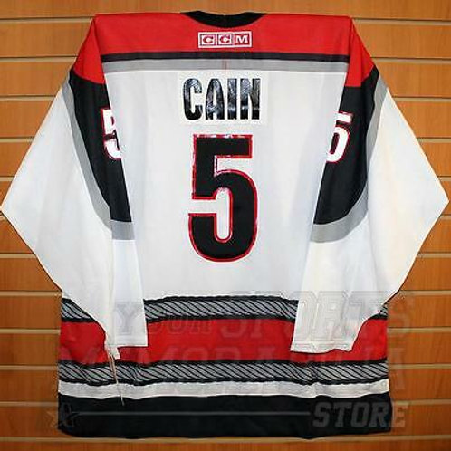 Cain Portland Pirates #5 AHL CCM Official Replica Hockey Jersey XL