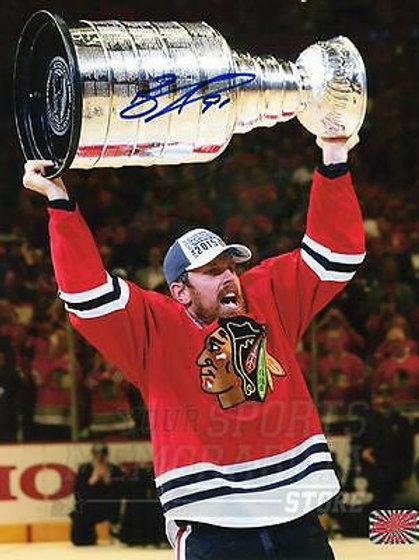 Brad Richards Chicago Blackhawks Signed Autographed Raising Stanley Cup 8x10