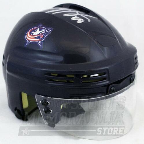 Brandon Saad Columbus Blue Jackets Signed Autographed Blue Jackets Mini Helmet