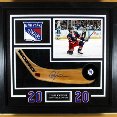Chris Kreider New York Rangers Signed Autographed Stick Blade Frame Display B