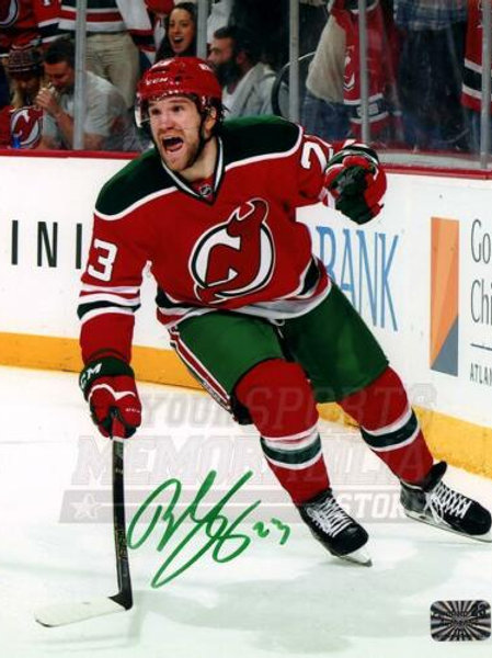Bobby Farnham New Jersey Devils Signed Autographed Throwback Goal Cele 8x10