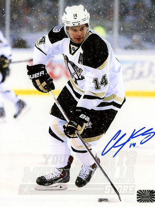 Chris Kunitz Pittsburgh Penguins Signed Autographed Stadium Series 8x10
