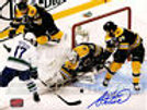 Adam McQuaid Boston Bruins Signed Stanley Cup Defense Action 8x10 Tim Thomas - A