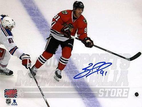 Brad Richards Chicago Blackhawks Signed Autographed Action vs Rangers 8x10