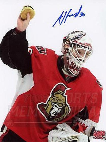 Andrew Hammond Ottawa Senators Signed Autographed Hamburger 8x10