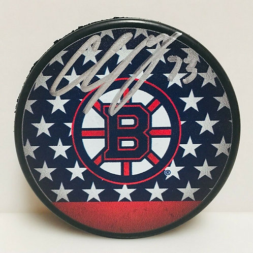 Charlie McAvoy Boston Bruins Signed Autographed LE USA Stars and Stripes Puck