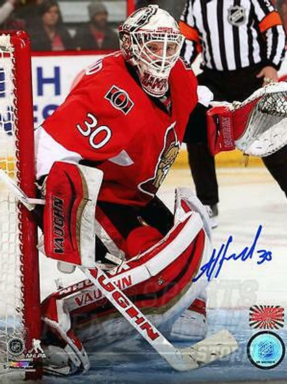 Andrew Hammond Ottawa Senators Signed Autographed Home Action 16x20
