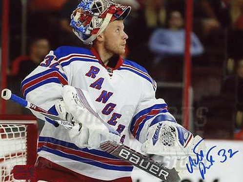 Antti Raanta New York Rangers Signed Autographed Away Up Close 8x10