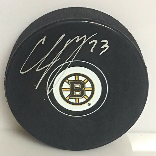 Charlie McAvoy Boston Bruins Signed Autographed logo hockey Puck