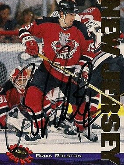 Brian Rolston New Jersey Devils 1994-95 Classic Hand Signed Card
