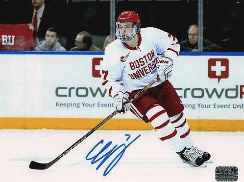 Charlie McAvoy Boston Bruins Signed autographed Boston University 8x10 H