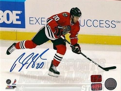 Brandon Saad Chicago Blackhawks signed autographed home action 16x20 Photo