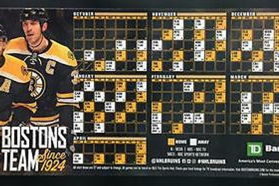2016-17 Boston Bruins Schedule Magnet Bergeron Chara