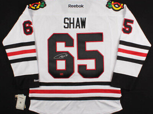 Andrew Shaw Chicago Blackhawks Signed Autographed White Hockey Jersey