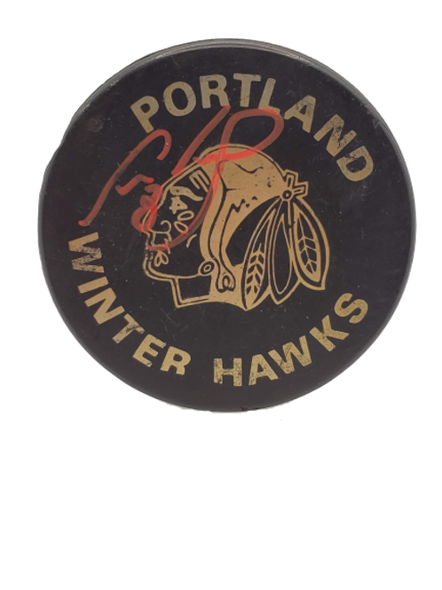 Cam Neely Portland Winter Hawks WHL signed autographed puck