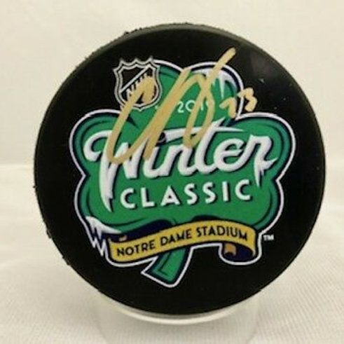 Charlie McAvoy Boston Bruins Signed 2019 Winter Classic Puck Notre Dame