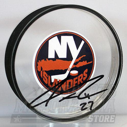 Anders Lee New York Islanders Signed Autographed Islanders Acrylic Puck