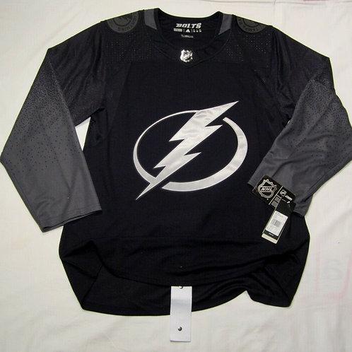 Tampa Bay Lightning Adidas Climalite authentic ALTERNATE Jersey SIZE 54