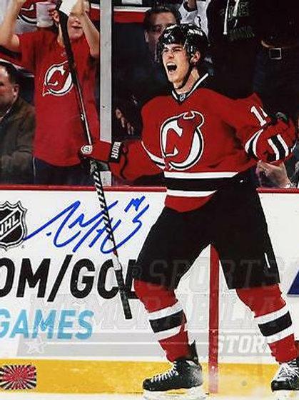 Adam Henrique New Jersey Devils Signed Autographed Goal Scream Celebration 8x10