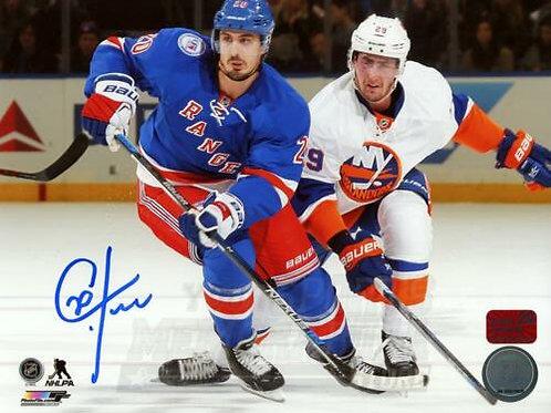 Chris Kreider New York Rangers Signed Autographed Home Action vs Islanders 8x10