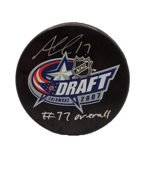 "Alex Killorn Tampa Bay Lightning signed NHL Draft 07 puck ""#77 overall"""