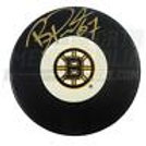 Benoit Pouliot Boston Bruins Signed B-Logo Puck
