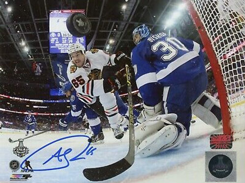 Andrew Shaw Chicago Blackhawks Signed Autographed Stanley Cup Net Cam Goal 8x10