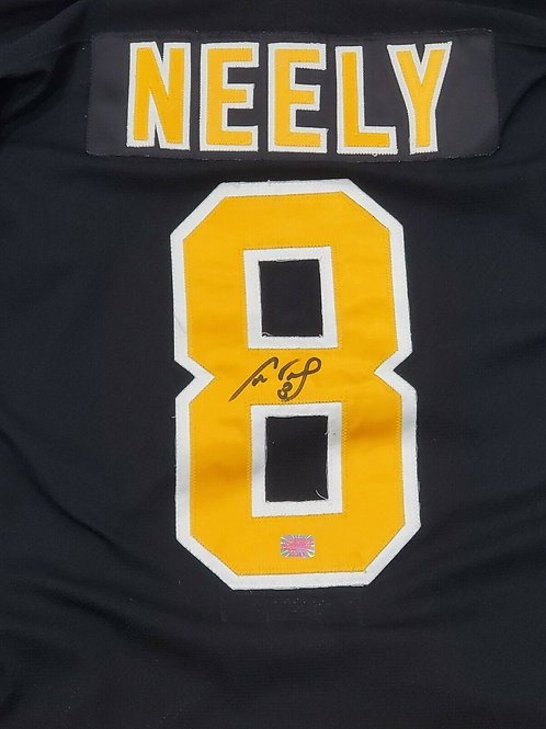 """Cam Neely Boston Bruins signed Authentic VINTAGE 1990 CCM Jersey """"bear"""" logo"""