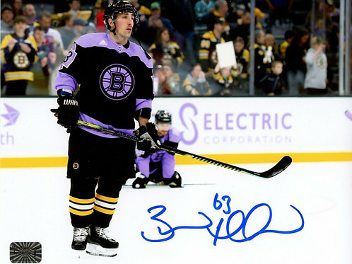 Brad Marchand Boston Bruins Signed Hockey Fights Cancer Warm Up Jersey 8x10 H