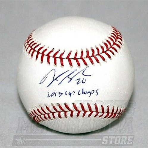 Brandon Saad Chicago Blackhawks signed inscribed major league baseball