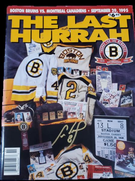 "Cam Neely Boston Bruins signed autographed original program ""The Last Hurrah"""