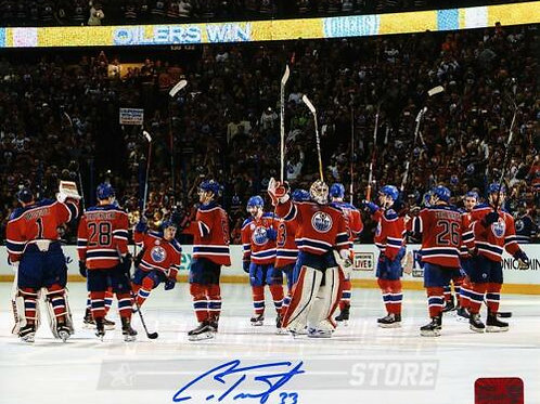 Cam Talbot Edmonton Oilers Signed Autographed Last Game Rexall Place Team 8x10