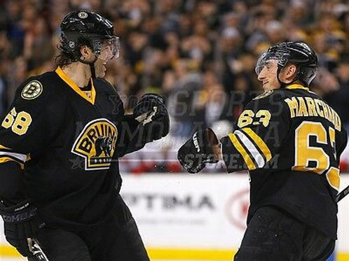 Brad Marchand Jaromir Jagr Boston Bruins celebrate goal  8x10 11x14 16x20 3056