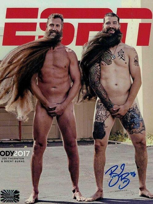 Brent Burns San Jose Sharks Signed ESPN Body Issue 8x10 W/ Burns Authentic COA