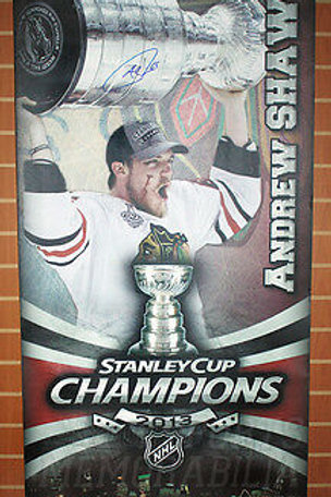 Andrew Shaw Chicago Blackhawks Signed Autographed Stanley Cup Street Banner