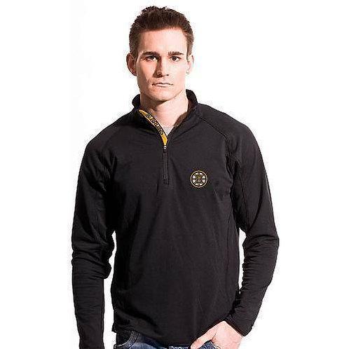 Boston Bruins Men's Black Levelwear Metro Quarter Zip Pullover Jacket