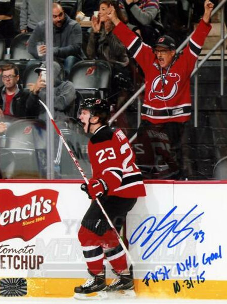 Bobby Farnham New Jersey Devils Signed Autographed 1st NHL Goal Inscribed 8x10