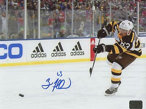 Brad Marchand Boston Bruins Signed Autographed 2019 Winter Classic Shot 8x10 ...