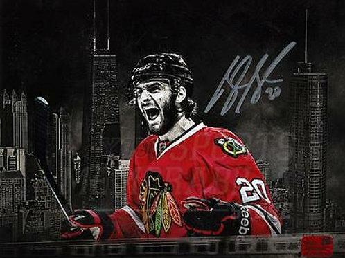 Brandon Saad Chicago Blackhawks Signed Autographed Chicago City Spotlight 8x10