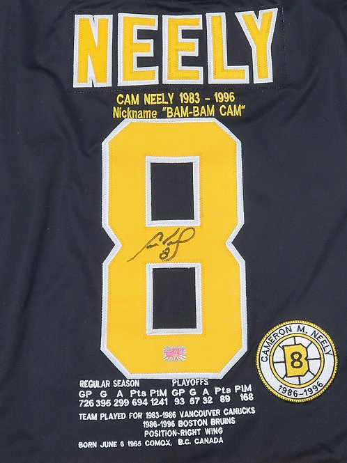 Cam Neely Boston Bruins signed Authentic CCM Career Stat Jersey