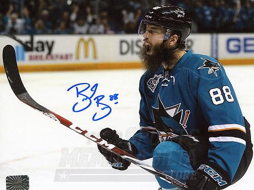 Brent Burns San Jose Sharks Signed Autographed One Knee Goal Celebration 8x10