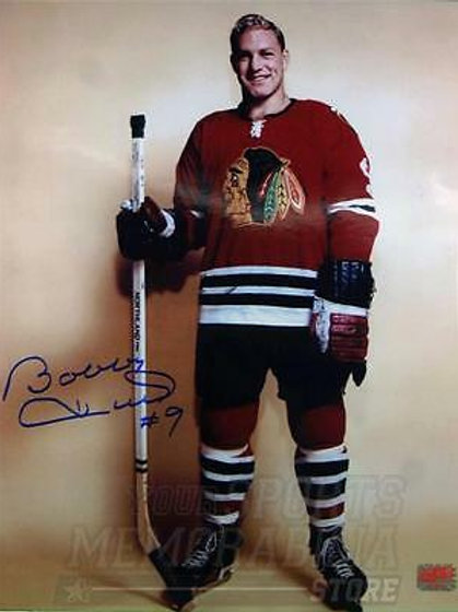 Bobby Hull Chicago BlackHawks signed autographed 11x14